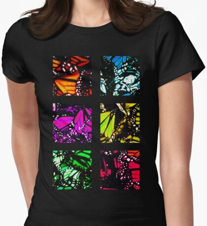 Fragmented Monarchy in Sharpie (Rainbow Edition) Womens Fitted T-Shirt