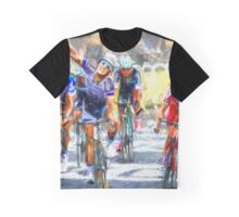 Cyclist in corner Graphic T-Shirt