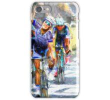 Cyclist in corner iPhone Case/Skin