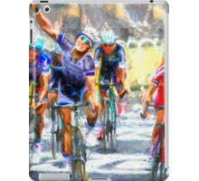 Cyclist in corner iPad Case/Skin