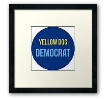 Yellow Dog Democrat Framed Print
