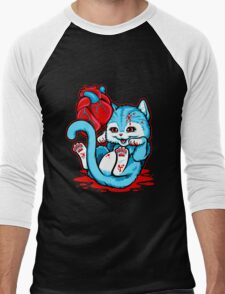 Cat Got Your Heart Men's Baseball ¾ T-Shirt