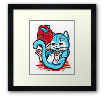Cat Got Your Heart Framed Print
