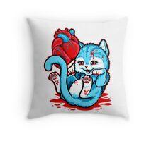 Cat Got Your Heart Throw Pillow