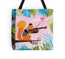 Red Squirrel Serenade Tote Bag