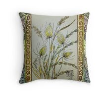 Flower arrangements of weeds Throw Pillow