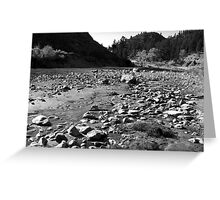Black And White Landscape 3  Greeting Card