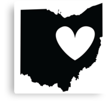 Ohio is Where the Heart is (Black) Canvas Print