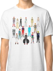 Bowie Scattered Fashion on White Classic T-Shirt