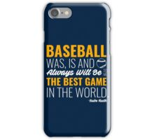 Babe Ruth Baseball Quote iPhone Case/Skin