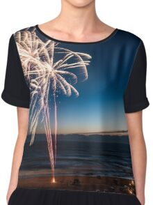 Fireworks on the Beach at Sunset Chiffon Top