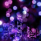 City lights iPhone Case by subhraj1t