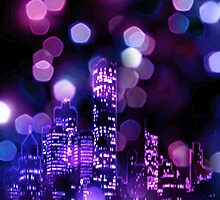 City lights iPhone Case by subhraj1t