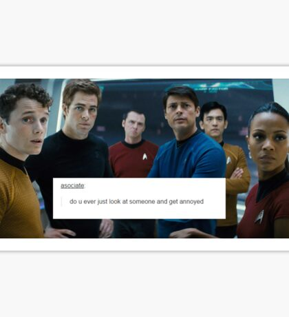 Star Trek Crew - The Look  of Annoyance Sticker
