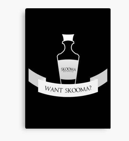 Want Skooma? Canvas Print