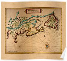 Map Of Canada 1630 Poster