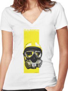 Gasser-Yellow Women's Fitted V-Neck T-Shirt