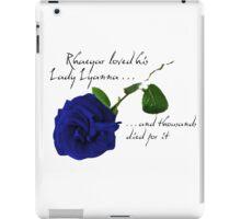 Rhaegar loved his Lady Lyanna iPad Case/Skin