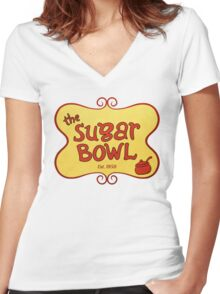 Home of the Banana Boat Women's Fitted V-Neck T-Shirt