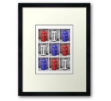 Patriot Phonebox Framed Print