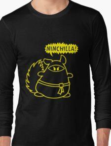 The Ninja Chinchilla - Yellow Long Sleeve T-Shirt