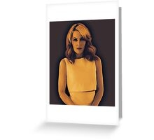Gillian Anderson Painting  Greeting Card