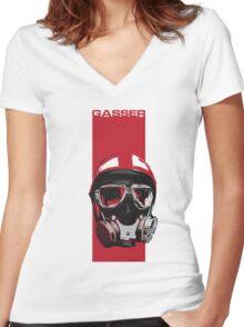 Gasser-Red Women's Fitted V-Neck T-Shirt
