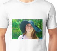 Girl with Floppy Hat Unisex T-Shirt