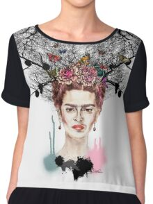 The Little Deer - Frida Kahlo Chiffon Top
