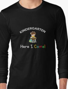 Kids Kindergarten Gift Shirt for Boys on the First Day of School Long Sleeve T-Shirt