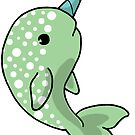 Polka Dot Narwhal by Cassie M.