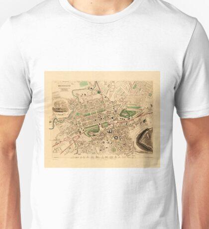 Map Of Edinburgh 1852 Unisex T-Shirt