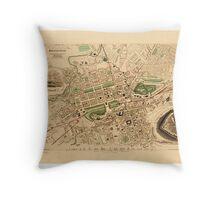Map Of Edinburgh 1852 Throw Pillow