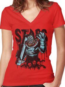 STARS Women's Fitted V-Neck T-Shirt
