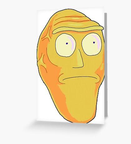Orange Cromulon Greeting Card