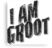 I am Groot Tee Canvas Print