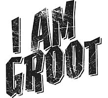 I am Groot Tee Photographic Print