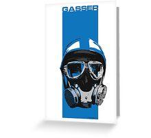Gasser-Blue Greeting Card