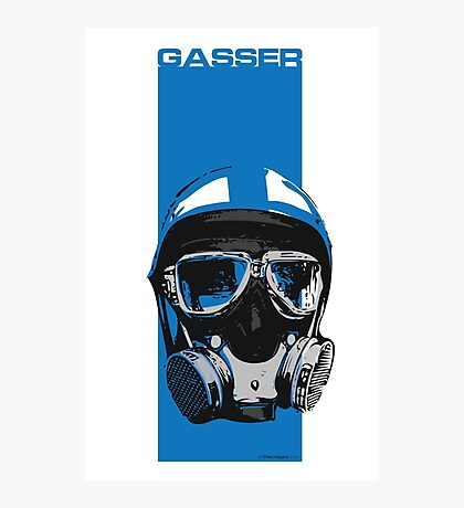 Gasser-Blue Photographic Print