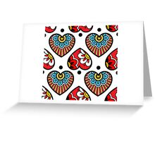 Oriental hearts Greeting Card
