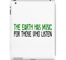 Earth Music Beautiful Inspirational Quotes Nature Hippie iPad Case/Skin
