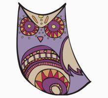 Deco Owl - grape juice One Piece - Short Sleeve