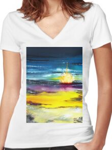 Campfire Women's Fitted V-Neck T-Shirt