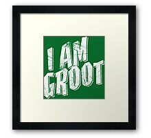 I am Groot Shirt Framed Print