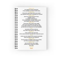 Ten duel commandments Spiral Notebook