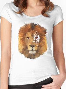 Majestic Lion King. Women's Fitted Scoop T-Shirt