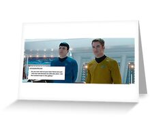 Spock and Kirk - Space Bros Greeting Card