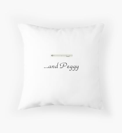 And Peggy #2 Throw Pillow