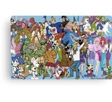 Morning Cartoons of the 80s and 90s Canvas Print