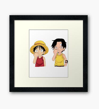 One Piece - Luffy & Ace Framed Print